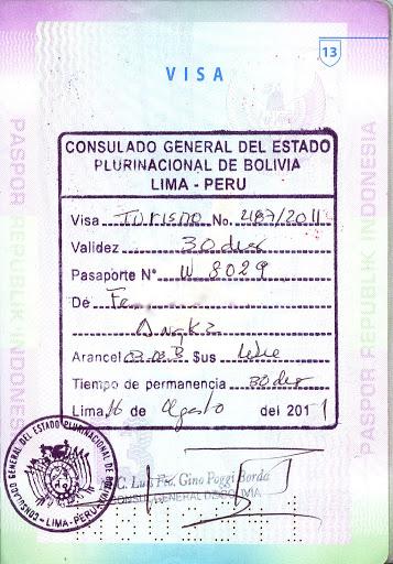 visa Bolivia