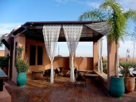 Living room di roof top (Fes)